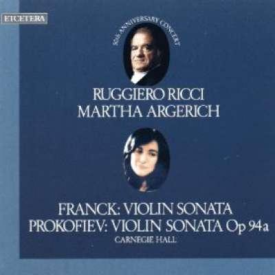 Franck, Violin Sonata and Prokofiev, Violin Sonata