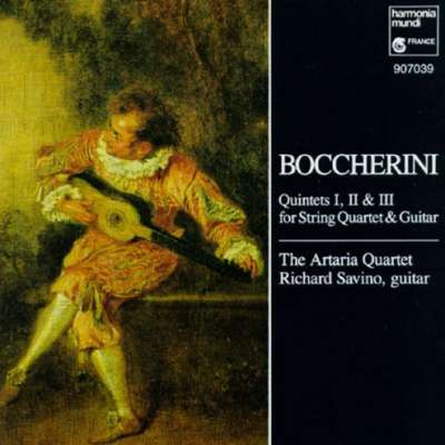 Boccherini Quintets 1, 2, 3 For String Quartet And Guitar