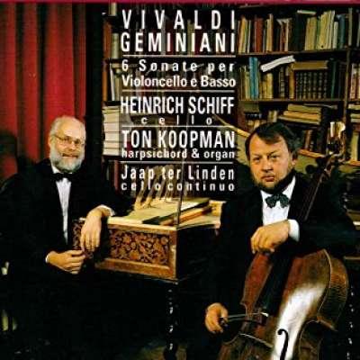 Vivaldi, Geminiani. 6 Sonate Per Violoncello E Bass
