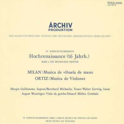 Milan: Musica De Vihuela De Mano -  Ortiz: Musica De Violones