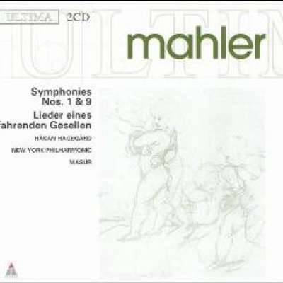 Mahler: Symphonies 1 and 9, Etc / Masur, Hagegard