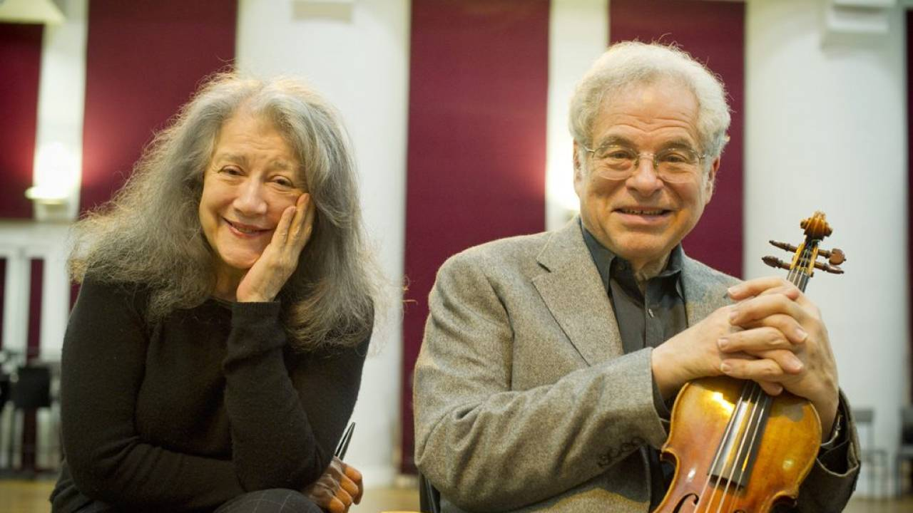 Itzhak Perlman and Martha Argerich