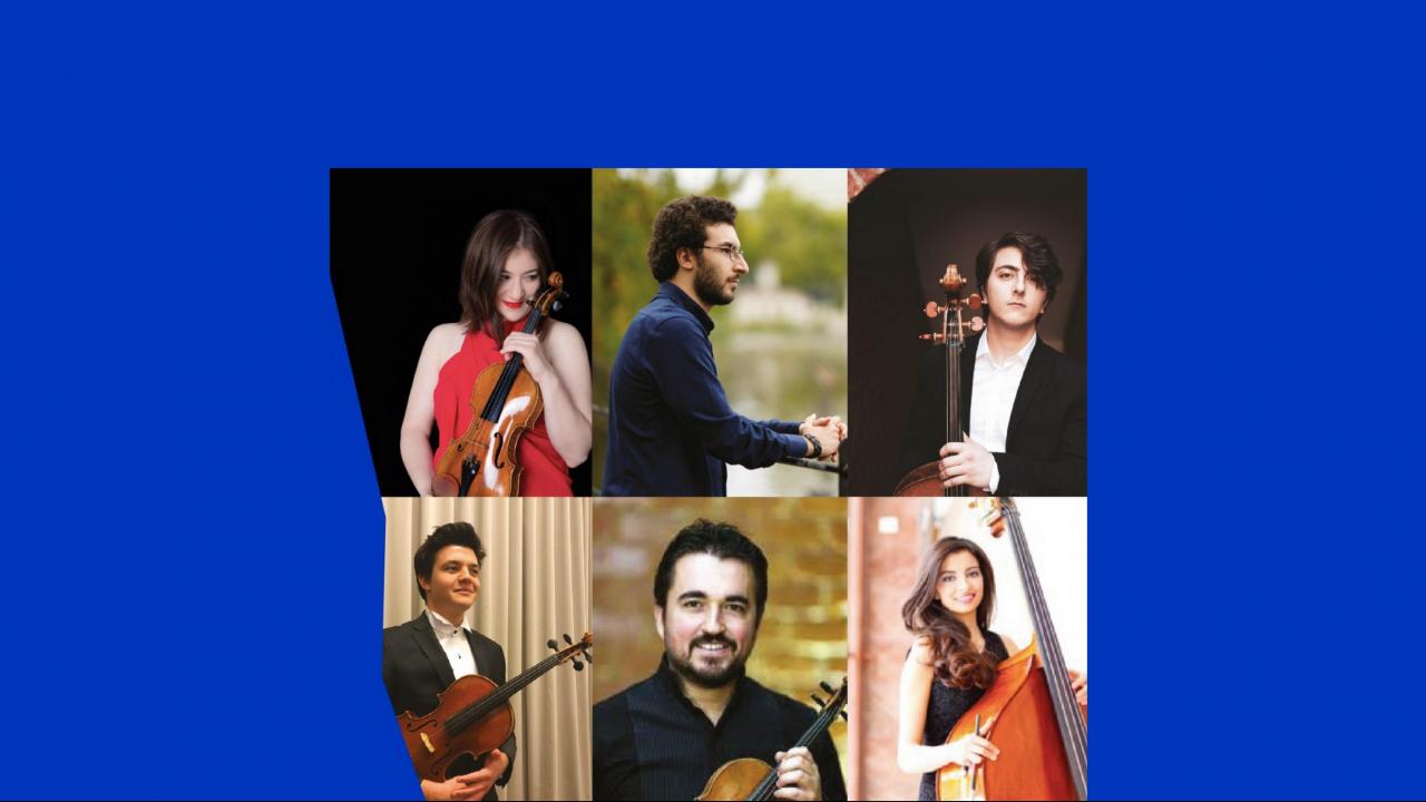 Dünya Sahnelerinde Genç Müziyenler Beşlisi (Veriko Tchumburidze, Umut Sağlam, Barok Bostancı, Seçil İrem Keskin, Tolga Atalay Ün)